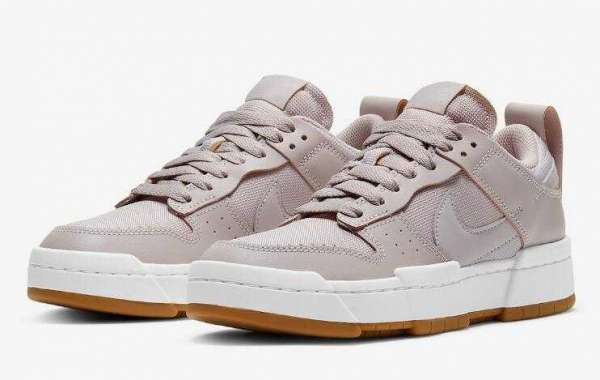 New Release Nike Dunk Low Disrupt Dusty Pink Gum Soles for Sale