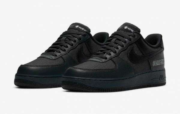 2020 Nike Air Force 1 Gore-Tex Anthracite Black Releasing Soon