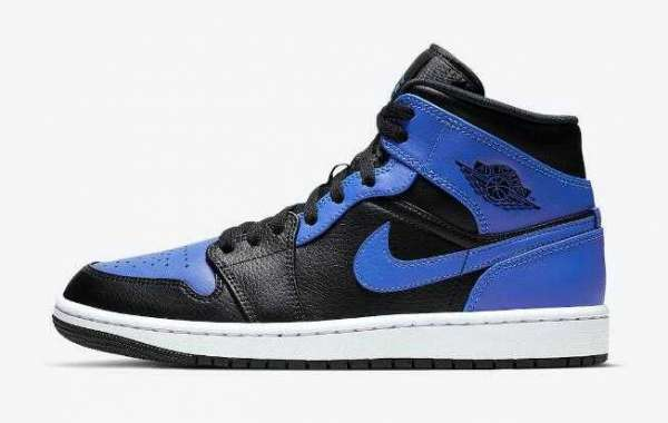554724-077 Air Jordan 1 Mid Hyper Royal for Online Sale